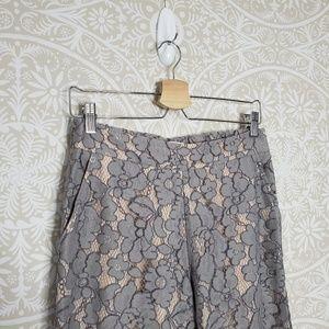 Anthropologie Pants - Feather & Bone Lace Wide Leg Grey Pants XS 90G39